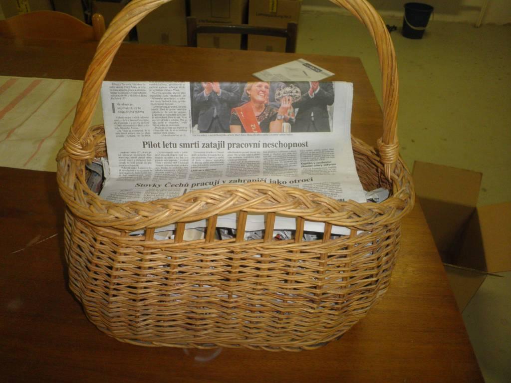 Daruji za odvoz pletený košík  77fe63119a