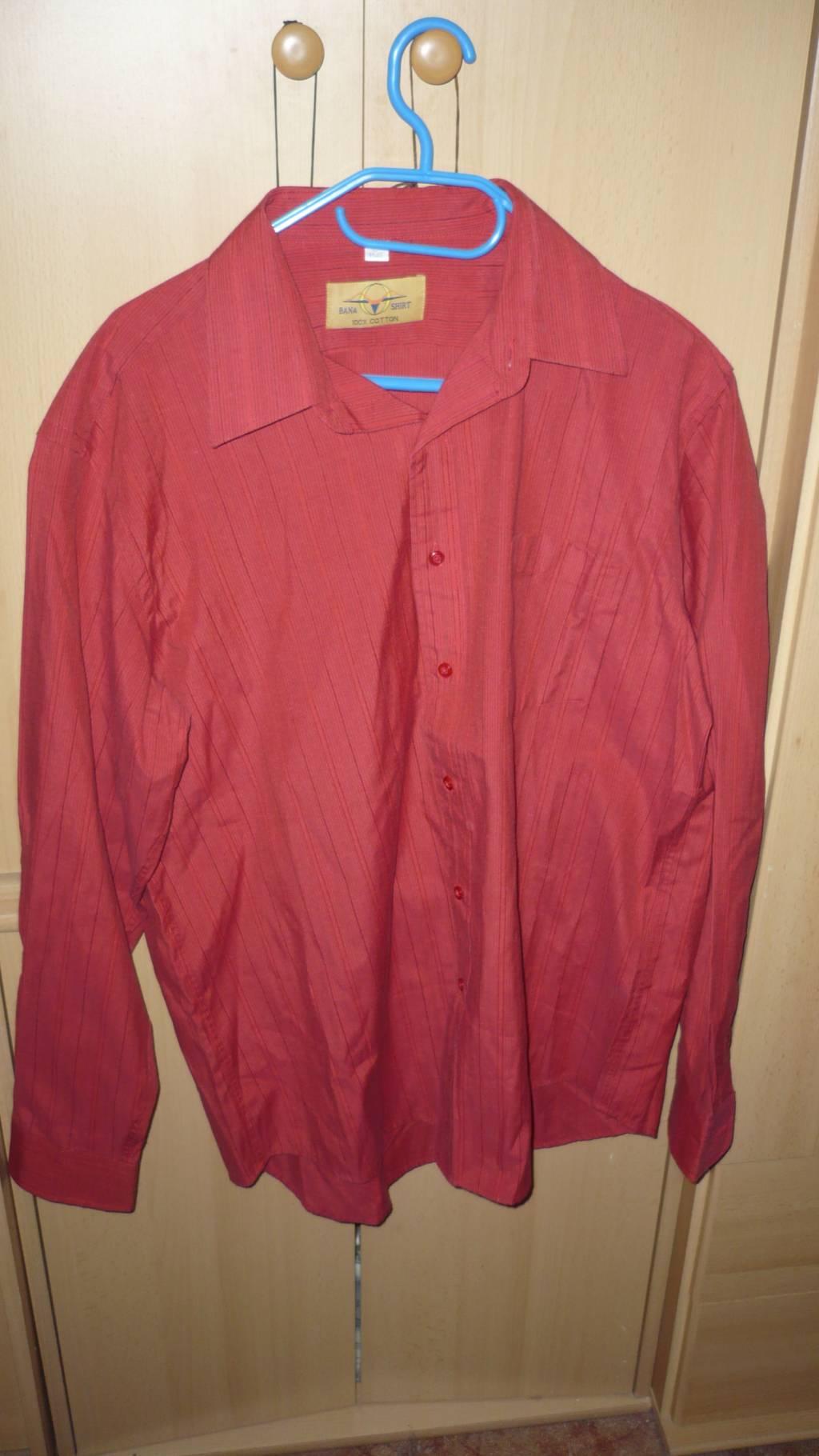 82487c27557 Daruji za odvoz pánská košile s dlouhým rukávem - červená vel.42 ...