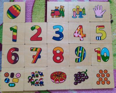 Dřevěné karty - čísla