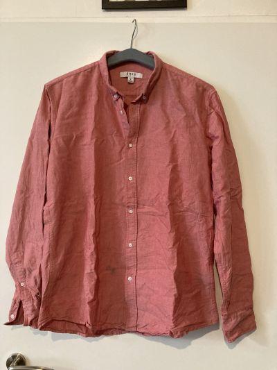 Pánská růžová košile L
