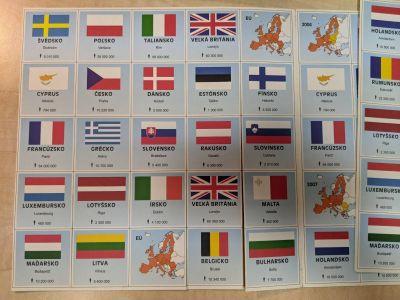 Pexeso s vlajkama EU