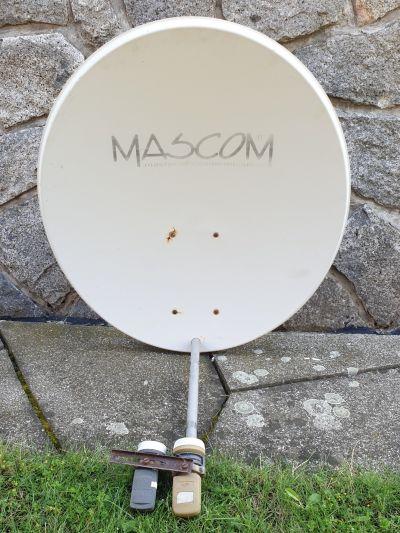 Satelitní parabola Ø 85 cm + 2 LNB