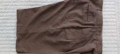 Kalhoty hnede tmavsi