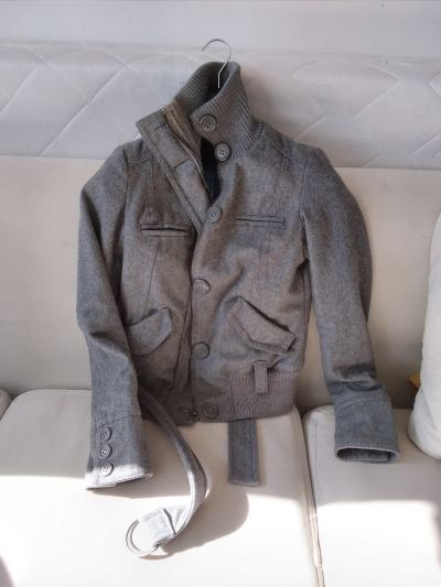 šedý podzimní/zimní kabátek, vel.S