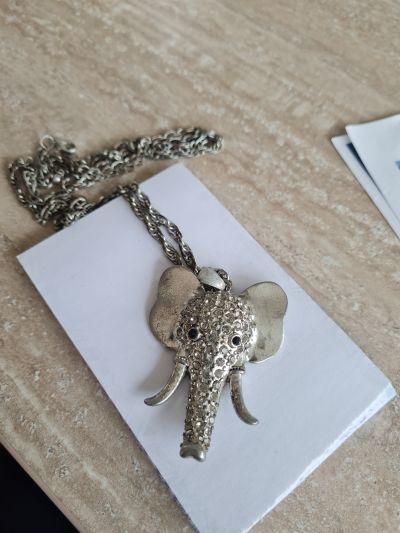 Dámský náhrdelník Slon (bižuterie)