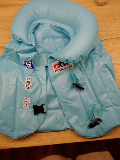 dětská plavací vesta, nafukovací