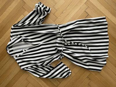 Pruhované košilové šaty