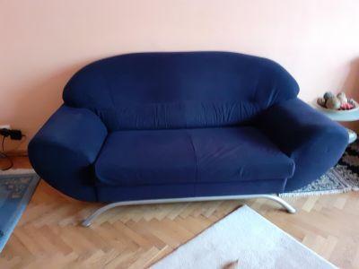Pohovka modrá - samet