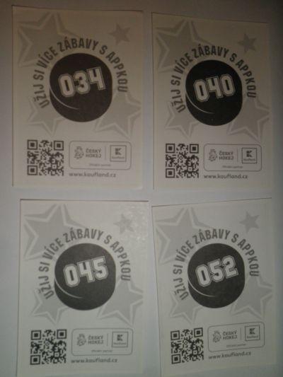 Hokejové karty z Kauflandu 34,40,45,52