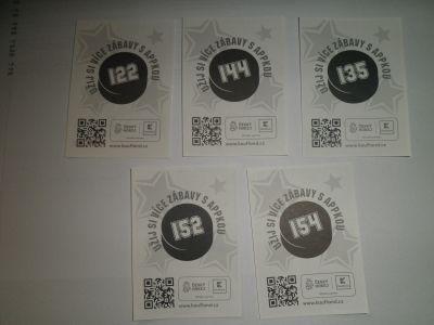 Hokejové karty z Kauflandu 122,135,144,152,154