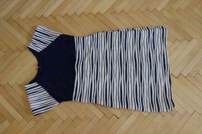 Modro-bílé šaty, vel. M