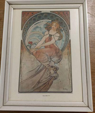 Mucha - tisk na papíru Malířství (1898)