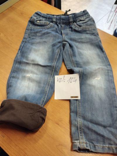 Jeans zateplené, prošoupaná kolena